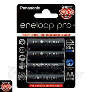 4-x-Panasonic-Eneloop-PRO-AA-batteries-2500mAh-Rechargeable-HR6-Ni-MH-BK-3HCDE