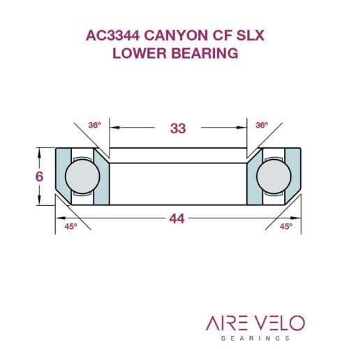 AI70 AND CF SLX CANYON ACROS HEADSET BEARING PAIRS