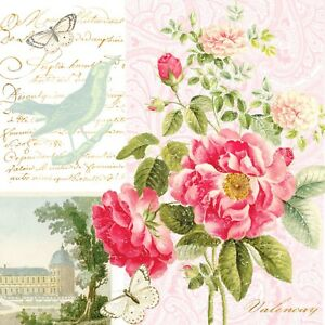 Rice Papers for Decoupage Scrapbook Crafting Roses 412