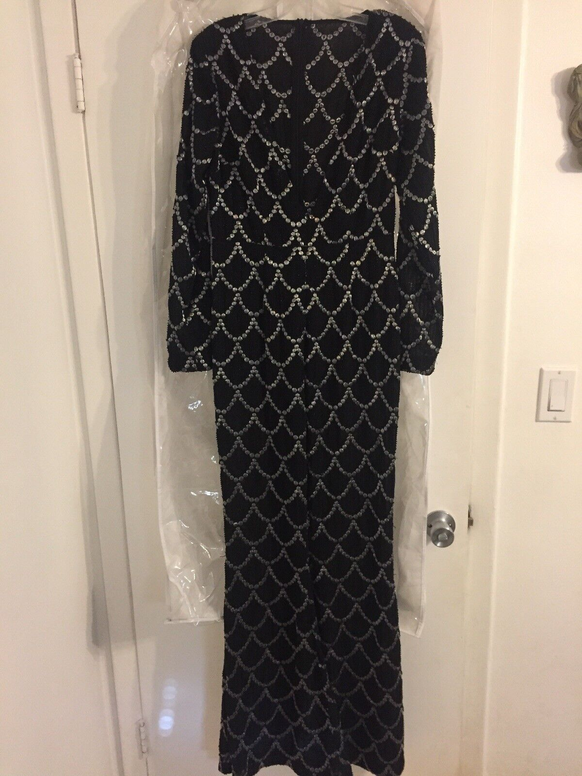 Heavily beaded scallop Celebrity jumpsuit S Stunning must see Ritzler