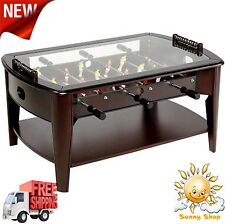"42"" Foosball Coffee Table Tempered Glass Game Room or Living Room New"