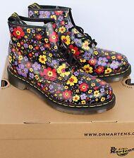 New Women Men DOC DR Martens Boots Shoes Floral Flowers Black England England 9