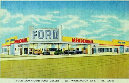 Louis Print Missouri St 1948-9 Mendenhall Ford auto dealership