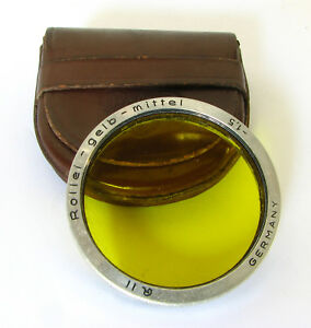 Rolleiflex-Bay-II-Yellow-1-5-Lens-Filter-For-Rolleiflex-3-5F-3-5E-Rollei-Magic