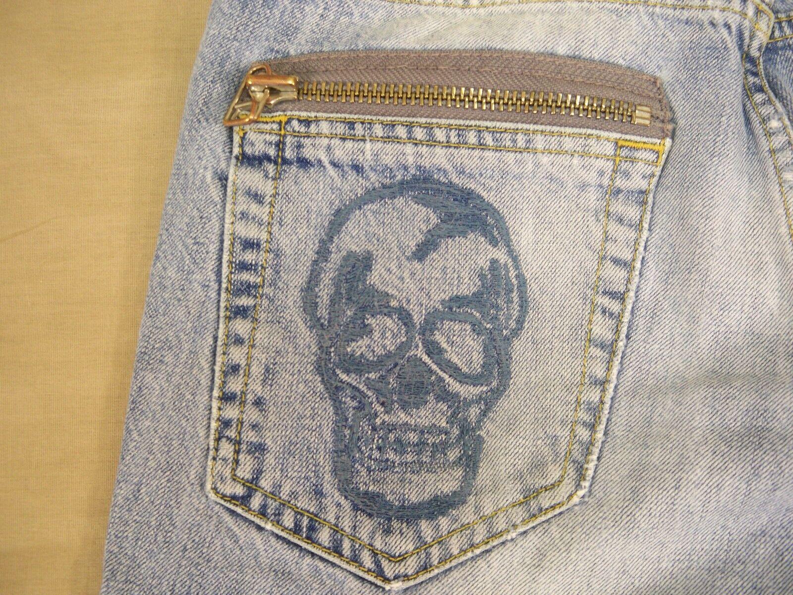 Zara Graphics Jeans Distressed Regular Fit Men's Size 30 X 30