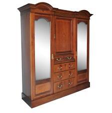 edwardian antique mahogany armoire