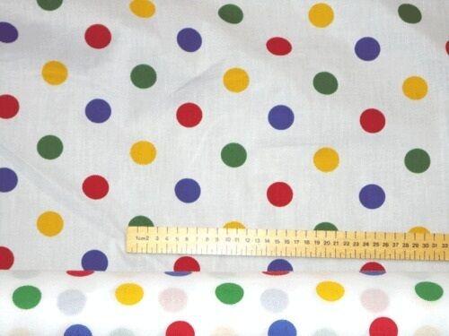 1 Pudsey Bear charité tissu Multi Couleur Polka Dot matériel enfants dans le besoin