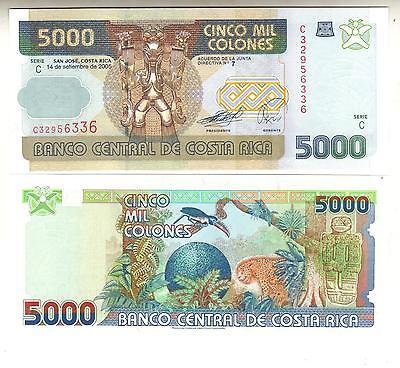 UNC Costa Rica Banknote P268Ab 5,000 Colones 14.9.2005