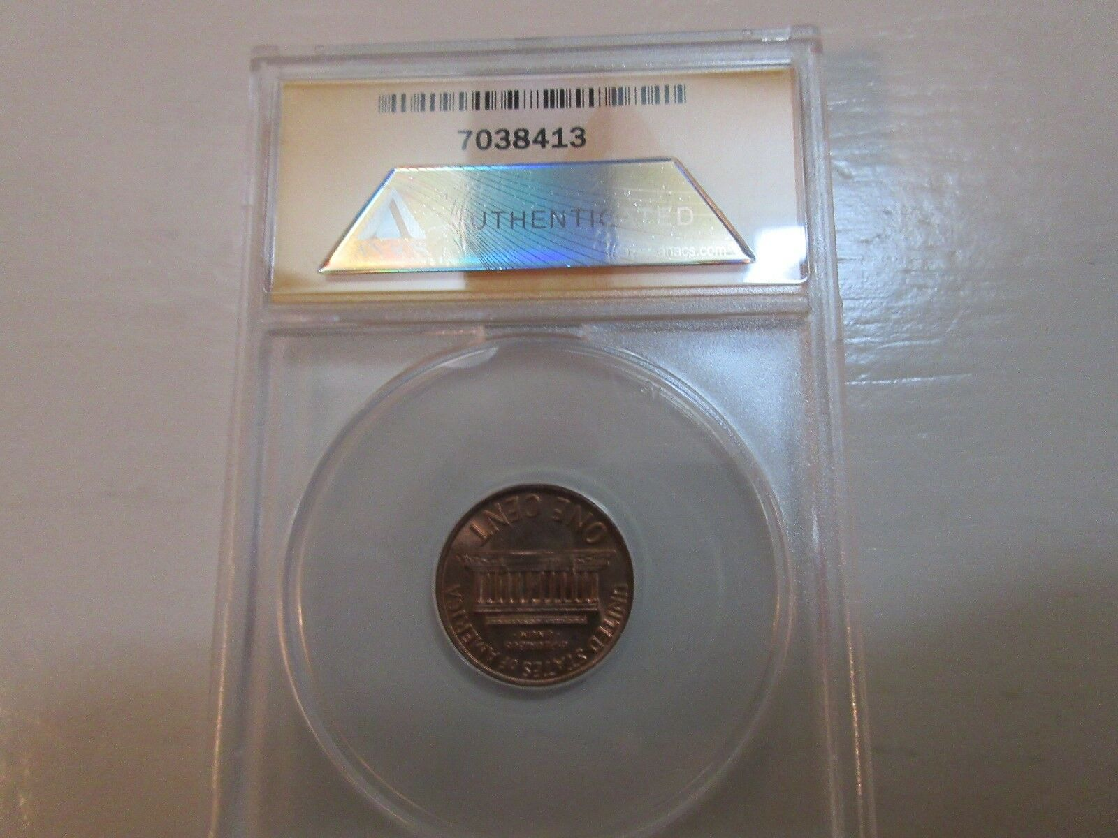 1971 , Lincoln Cent , ANACS , MS 62 RB