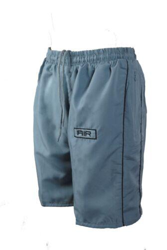 Da Uomo con Elastico Coulisse Sport Pantaloncini Aria Completamente Foderate W A Righe S-XL