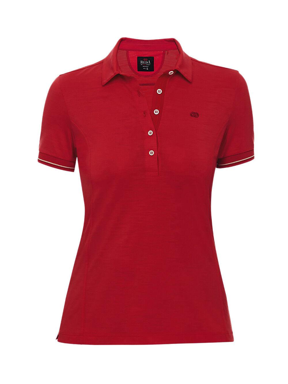 Reda Rewoolution - Egreen Women's Polo Shirt - 140 G M ² Merino-Jersey