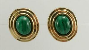 Vintage 14K Yellow Gold PBD Hematite Post Earrings 5.6 Grams Peter Brams Designs Wedding