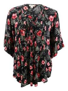 Style-amp-Co-Women-039-s-Plus-Size-Pintucked-Printed-Tunic