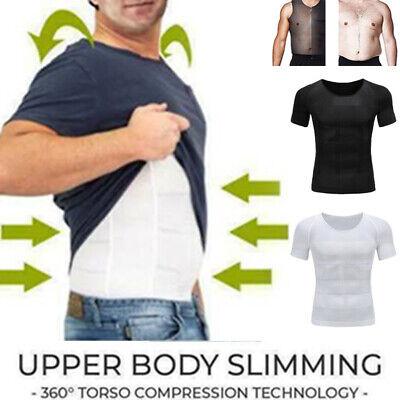 Men Body Toning T-shirt The UltraDurable Body Compression Shapewear Slimming Top