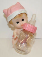 Pink Baby Bottle That Is Fillable Baby Shower Gift Decoration Cake Topper