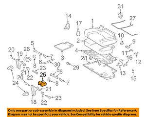 TOYOTA Genuine 71693-60130-C0 Seat Cushion Hinge Cover