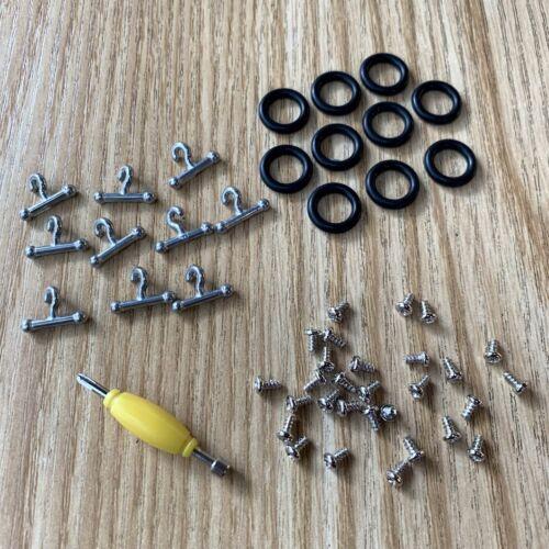 10 T Hook /& O-Rings 30x Screws for Gi Joe part accessory Repair part   TTUS
