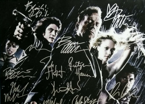 Excellent condition replica SIN CITY MOVIE Poster Signed by 22 cast members
