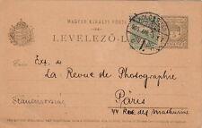 Lettre Entier Postal Kolozsvar France Cover Brief Hungary