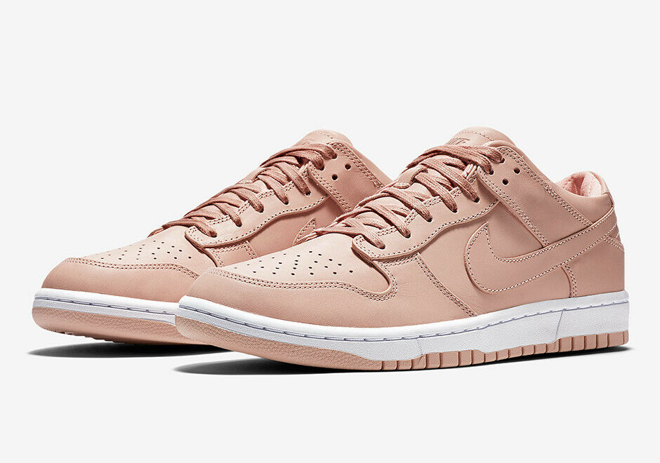 NWB Nike NIKELAB Dunk Lux Low Arctic orange Leather Sneakers Sz 9  140 Pink