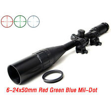 One-body Tube 6-24x50AOL RGB Mil-dot Zero Locking Rifle Scope Sight for Hunting