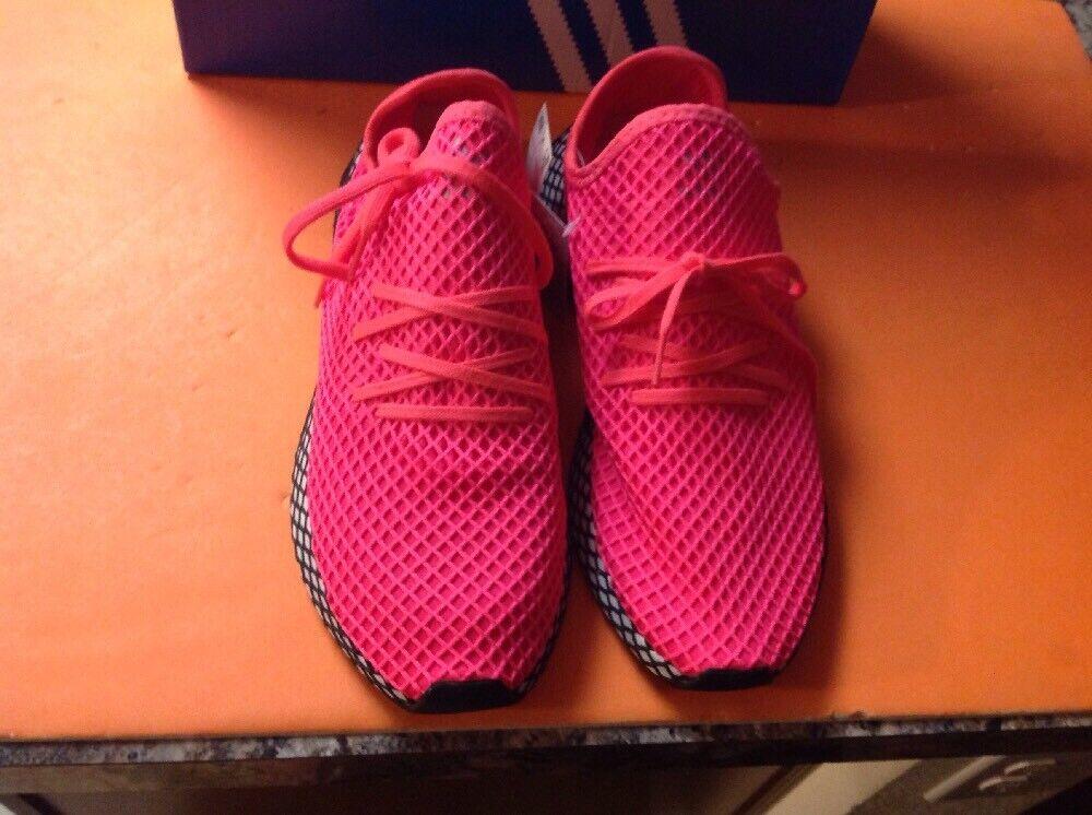 Adidas Brand NewOriginals Deerupt Runner Men Size 13 Pink Turbo B41769 new