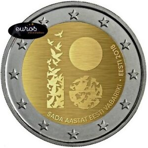 Piece-2-euros-commemorative-ESTONIE-2018-Premiere-Declaration-Independance