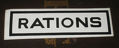 Lot of 7 Military Rations Stickers