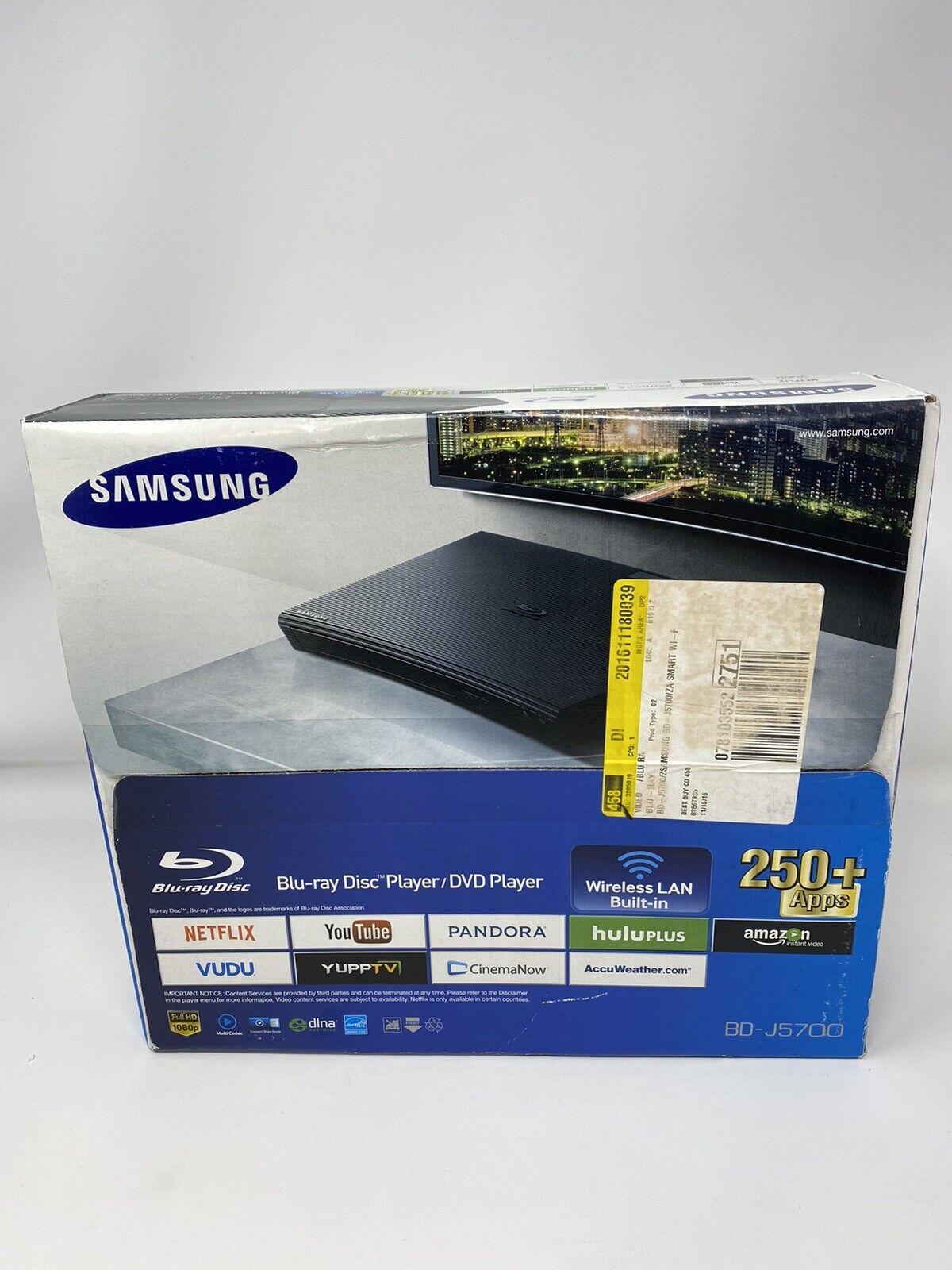 Samsung BD-J5700 Wi-Fi Blu Ray Player Brand New Sealed w/ Remote Streaming Apps apps blu brand new player ray remote samsung sealed streaming