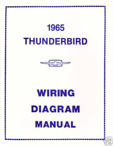 1965 Ford Thunderbird Wiring Diagram Manual