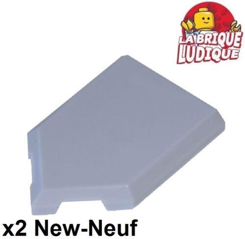 Lego 2x Tile plaque Modified 2x3 Pentagonal shield bleu pale//sand blue 22385 NEW
