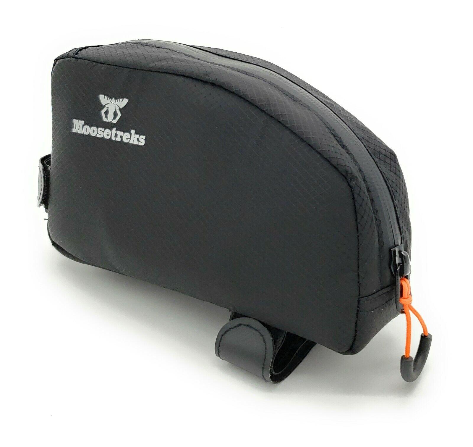 Moosetreks Bike Top Tube BagFuel-Tank Style Bike Packing Bag with Easy 1 Hand