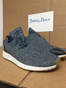 adidas zx flusso avanzata asym gray onix bianco nero mens bb3705 scarpe di gomma