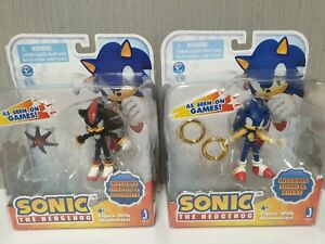 Set-of-2-Figures-Jazwares-Sonic-with-Rings-with-Doom-039-s-Eye-NEW-Original-RARE
