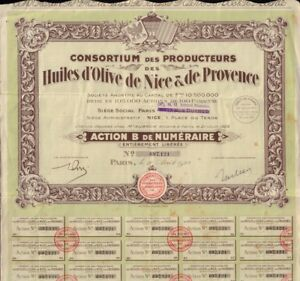 Details about Huiles d' Olive de Nice & de Provence Paris 1928 French Olive  Oil Producers