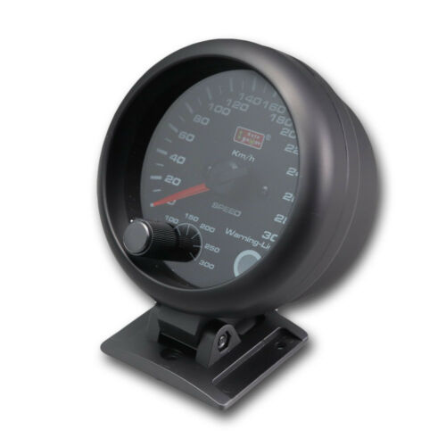 95 mm 3 3//4 inches Auto Speedometer 0-300 KMH with outside shift light