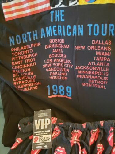 Rolling Stones 1989 tour Tee Shirt including VIP B