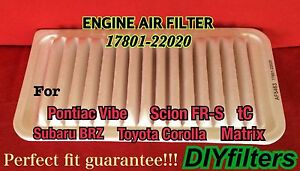 2003 toyota corolla engine air filter