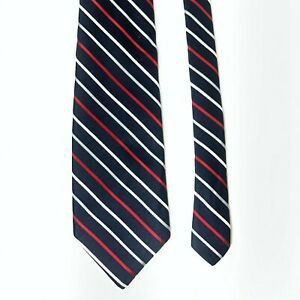 Givenchy-Men-039-s-Blue-Red-White-Striped-Silk-Neck-Tie