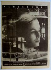 SANDY DENNY 1977 Poster Ad RENDEZVOUS