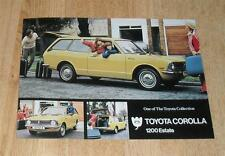 Toyota Corolla 1200 Estate Brochure / Flyer 1973