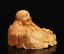 Chinese-Box-wood-Hand-Carving-Buddhism-Happy-Laugh-Maitreya-Buddha-Wealth-Statue thumbnail 3