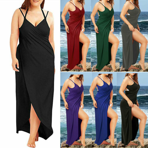 Women Summer Bikini Bathing Cover Up Swimwear Beach Dress Sarong Wrap Pareo UK