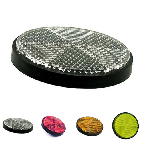 BICYCLE BIKE Motorcycle FRONT MOUNTED REFLECTOR REFLECTER 56mm DIAMETER 4 Colors