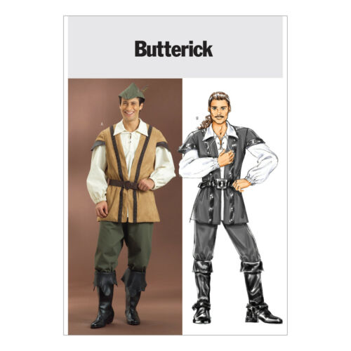 Butterick 4574 Sewing Pattern to MAKE Men/'s Ren//Medieval Costume Robin Hood