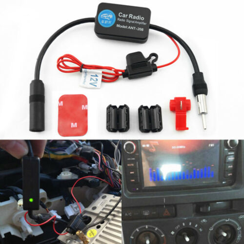 Auto Car Stereo Antenna FM AM Radio Signal AMP Amplifier Booster Strengthen 12V