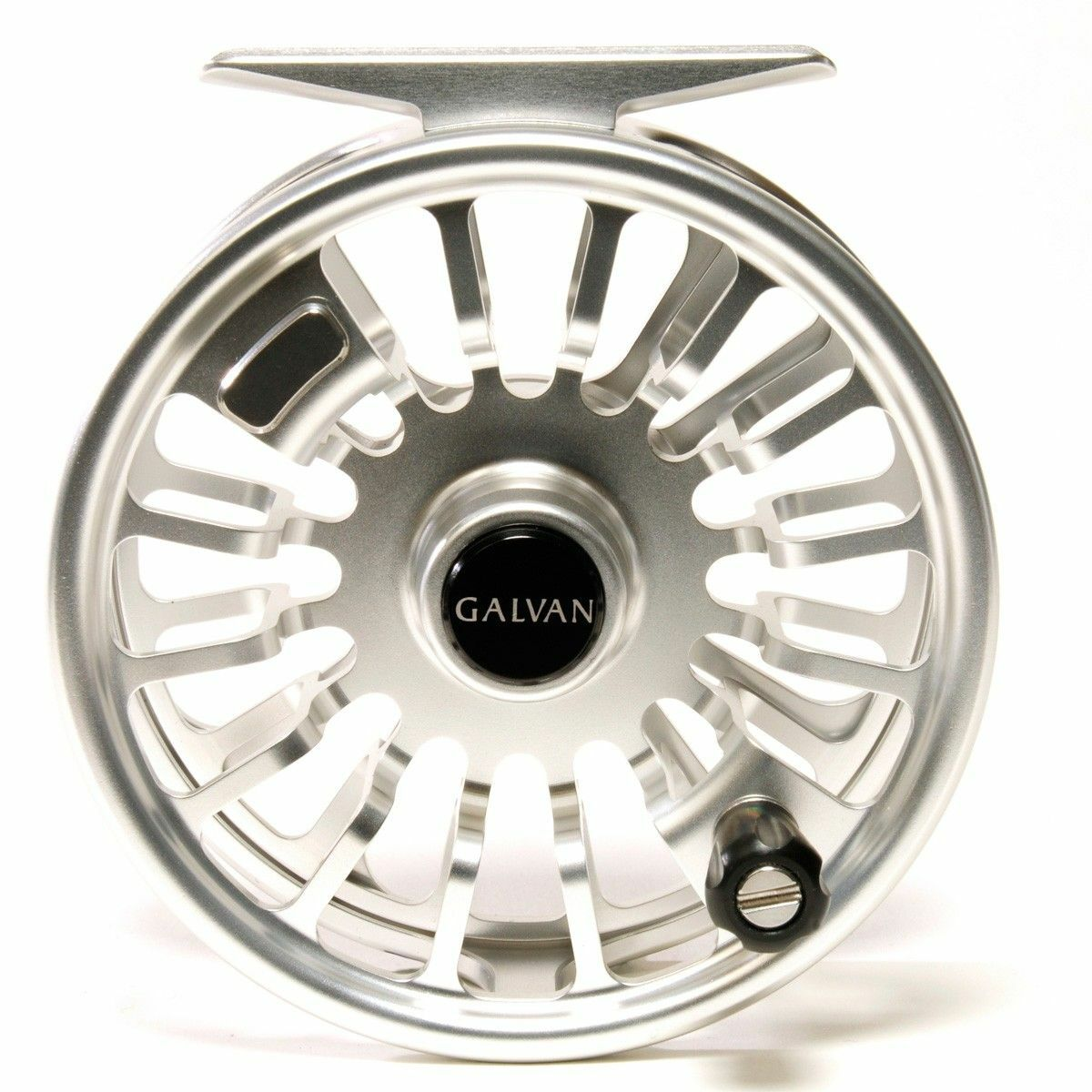 GALVAN T-5 TORQUE 5 FLY REEL CLEAR SILVER FOR 5/6 WT ROD USA MADE FREE $80 LINE
