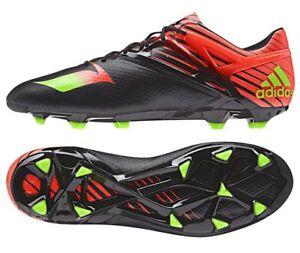 NIB NEW Adidas Sz. 8 Messi 15.1 FG Black Green Red Soccer Cleats ... 226daf98c7f22