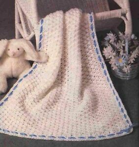 Crochet-Pattern-Baby-Pram-Blanket-Throw-Quick-To-Make