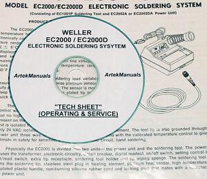 Test Equipment Manuals & Books EC2000D Soldering System Weller ...